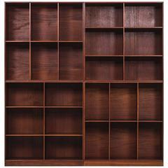 Mogens Koch Bookcases in Teak by Rud, Rasmussen in Denmark