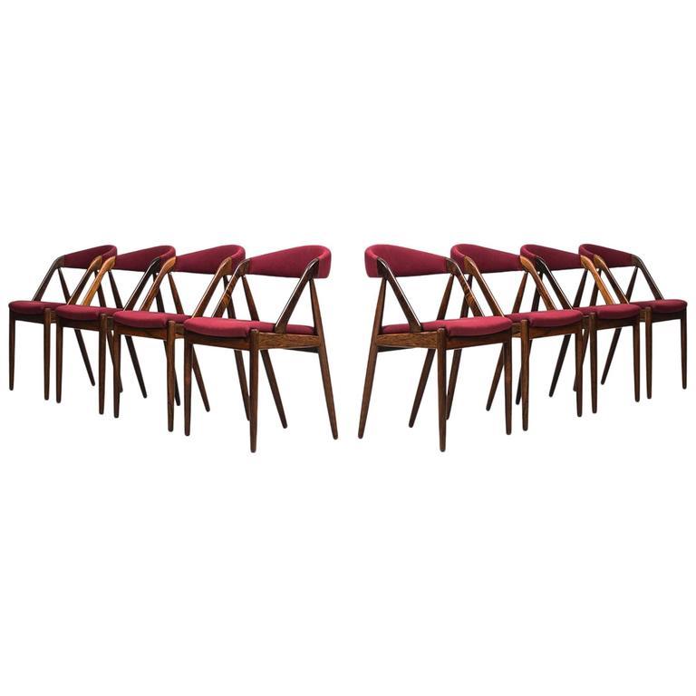 Kai Kristiansen Dining Chairs by Schou Andersen in Denmark