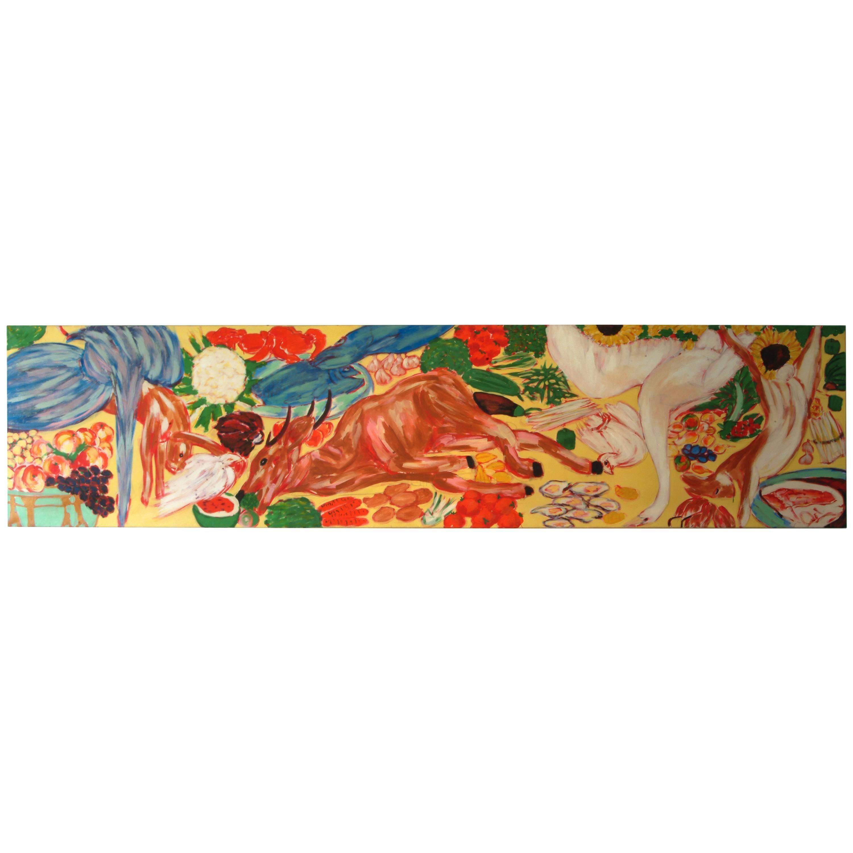 "Salomé, ""Avant Le Diner"", Acrylic on Canvas, Neo-Expressionism, Berlin, 1983"