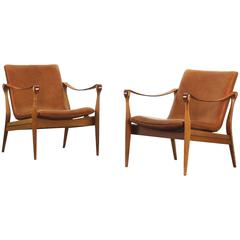 Mid-Century Modern Safari Lounge Chairs by Ebbe & Karen Clemmensen