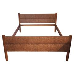"Charlotte Perriand, ""Meribel"" Bed, Wood and Wicker, circa 1956, France"