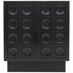 Black Brutalist Bar Cabinet