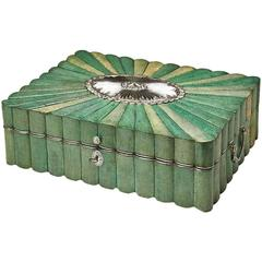 Shagreen and Silver-Gilt Casket, Louis XVI Period, French or Russian