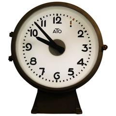 French Factory Ato Lepaute Brillie Station Railway Clock Industrial