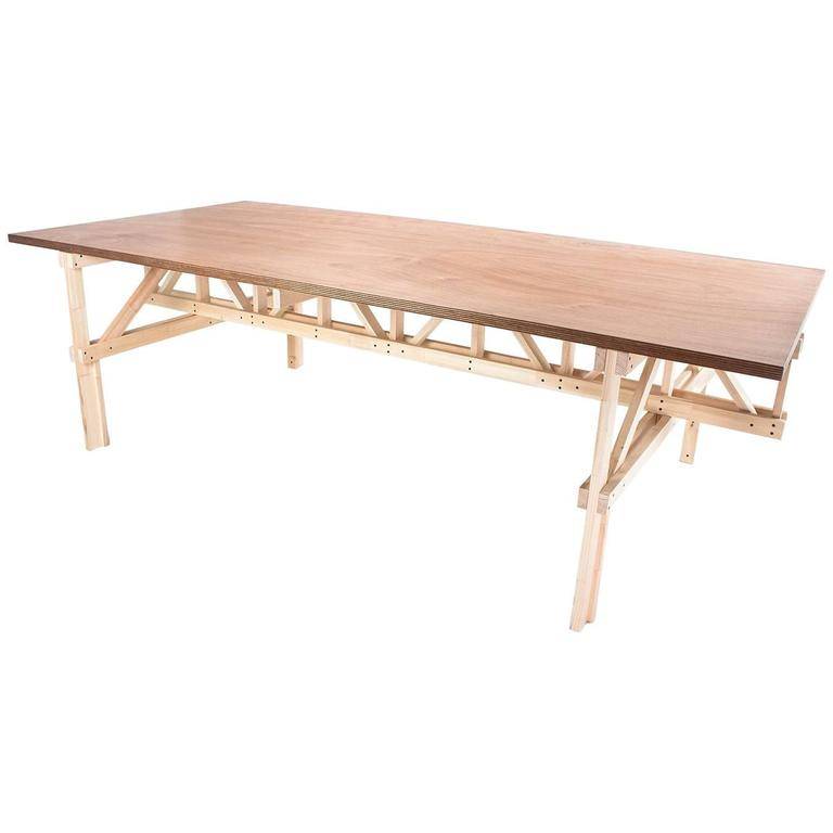 Contemporary and handcrafted dining room table or large for Dining room tables handmade