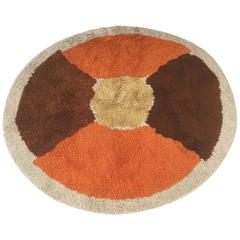 "Vintage 1970s Multi-Color Pop Art ""Circle"" Rug Made by Desso, Germany"