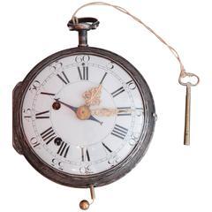18th Century Silver Carriage Clock, Austrian or German, circa 1770