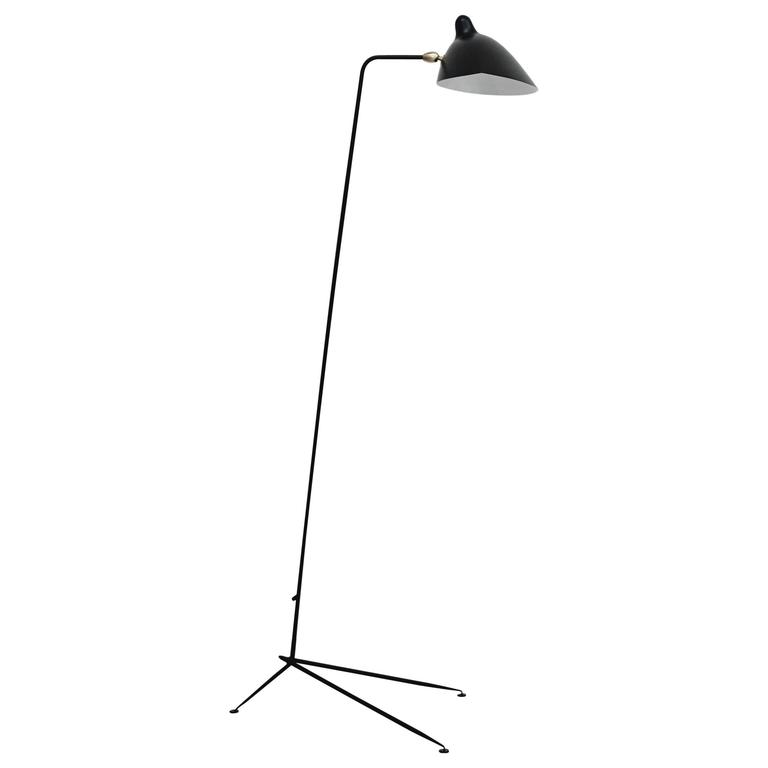 Serge Mouille one-arm standing lamp, ca. 2015, offered by DADA
