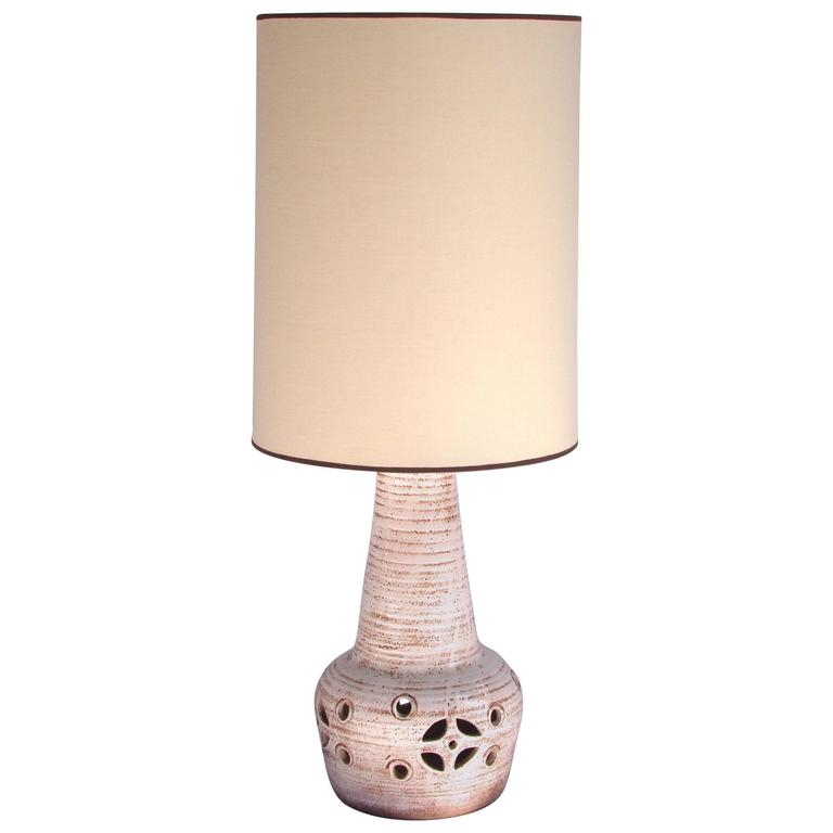 1960s Ceramic Table Lamp by Accolay