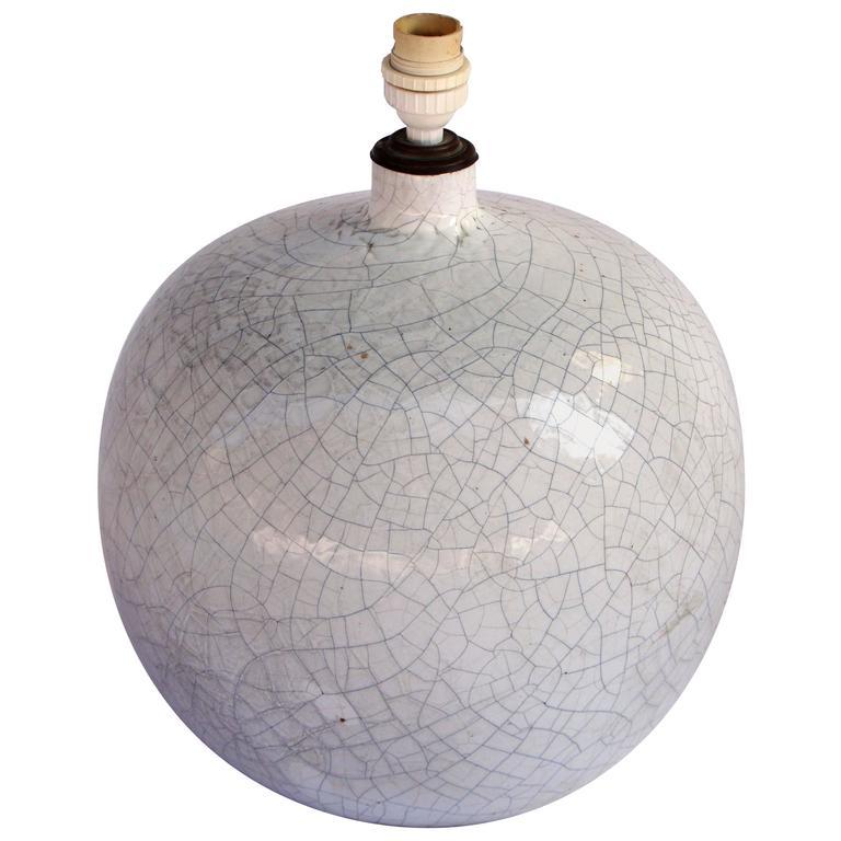 1960s Crazed Ceramic Table Lamp, Vallauris