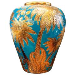 Jungle Dream Blue Jar Emaux de Longwy, 2017