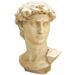 Monumental Bust of Michelangelo's David