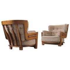 Guillerme & Chambron for Votre Maison Lounge Chairs