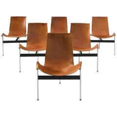 Katalovos T Chairs in Original Cognac Leather