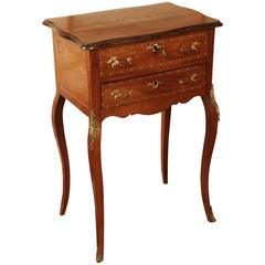 19th Century Louis XV Style Curved-Legs Side Table