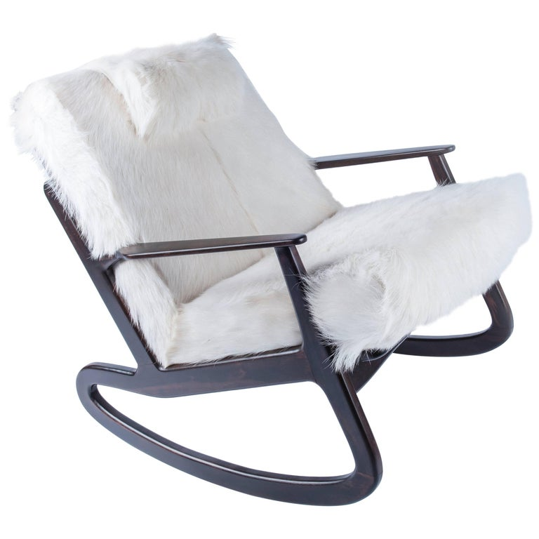 Mid-Century Modern Italian Rocking Chair For Sale