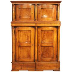 Antique Elmwood Four Door 'Hat' Cabinet, circa 1840