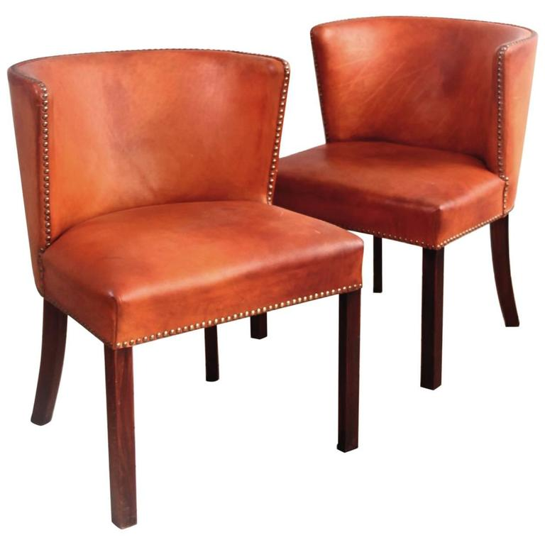 Frits Henningsen, Pair of Easy Chairs For Sale