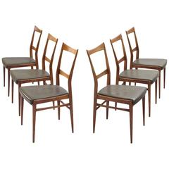 Scandinavian Dining Chairs in Walnut