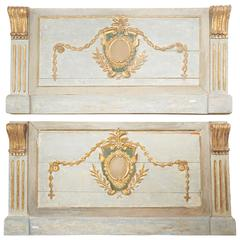 Pair of Italian 18th Century Boiserie Carved Giltwood Panels