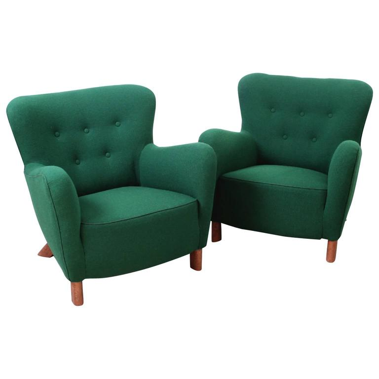 Fritz Hansen, Pair of Easy Chairs Model 1669