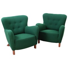 Fritz Hansen, Pair of Easy Chairs Model 1669, Mid-Century Modern