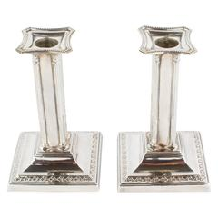 Hallmarked Pair of Candlesticks, 925 Sterling Silver, Sheffield, 1912