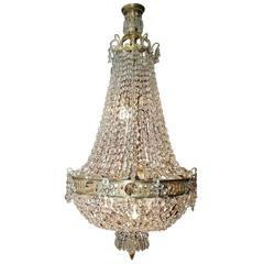 19th Century Biedermeier Basket Chandelier