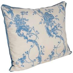 Single Chinoserie Style Vintage Fortuny Fabric Cushion