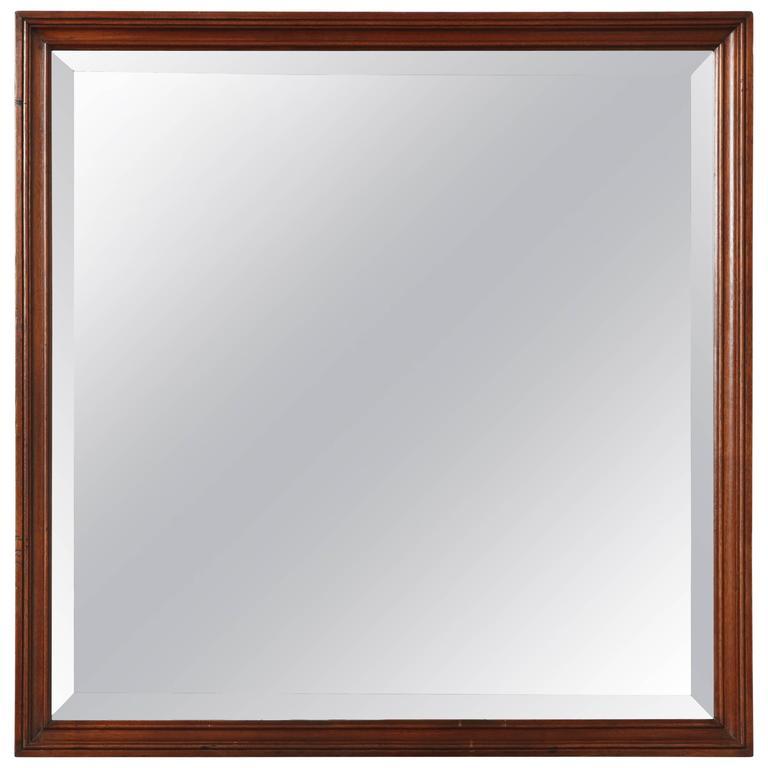 Late 19th Century Mahogany Mirror