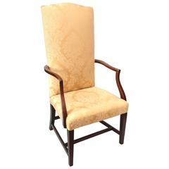 Federal Mahogany Lolling Chair, North Shore, Massachusetts, circa 1800