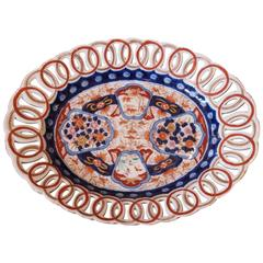 Imari Platter with Pierced Border