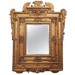 Italian Giltwood Mirror with Cherub