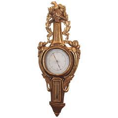 Louis XV Transition Louis XVI Barometer of Gilt Wood