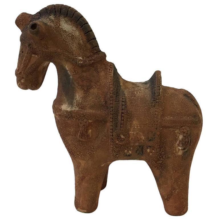 Italian Ceramic Horse by Aldo Londi for Bitossi
