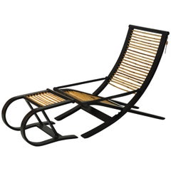 Iconic C1 Reclining Lounge Chair and Foot Stool Designed by David Colwell