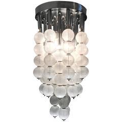 A Mid-Century Mazzega Chandelier With Pulegoso Murano Glass Balls