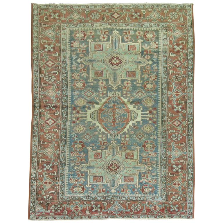 Antique Persian Heriz Karadja Rug For Sale