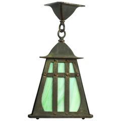 Craftsman Copper-Plated Triangle Pendant