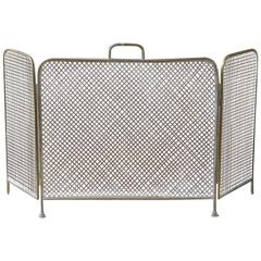 19th Century English Fireplace Screen or Fire Screen