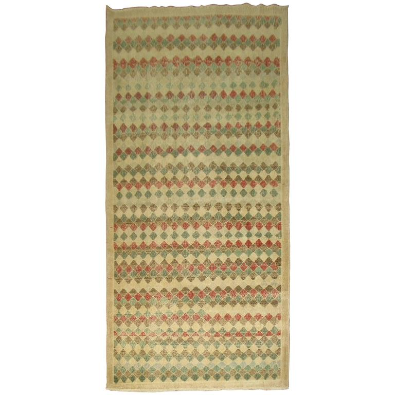 Vintage Turkish Deco Rug For Sale