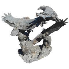 Impressive Bronze Eagle Fountain