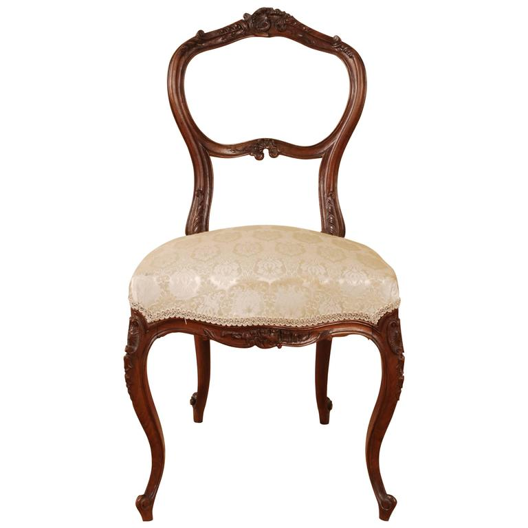 Incroyable 19th Century Louis XVI Or Neo Rococo Style Chair For Sale