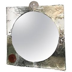 """Mid-Century Modern Mirror by Fratelli Toso, from """"Laguna"""" Series"""