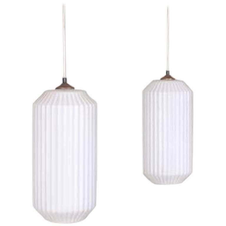 Pair of Italian Pendant Lights