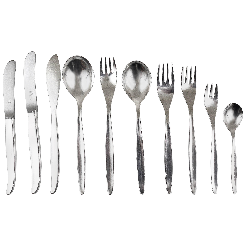Comprehensive Wmf Stockholm Silver Plated Flatware, Kurt Mayer, Germany, 1960s