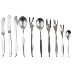 Comprehensive Wmf Stockholm Silver Plated Flatware, Kurt Mayer, Germany, 1960s