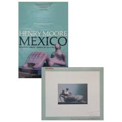 """Lot of Two """"Signed"""" Henry Moore Exhibition Posters Dated 1976 & 1982, Palm Beach"""