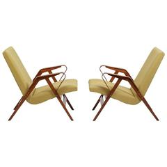 Chechoslovakia Classic, a Pair of Lounge Chairs