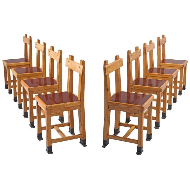 Interior Nautical Furniture For Sale set of eight nautical chairs in oak for sale at 1stdibs 1